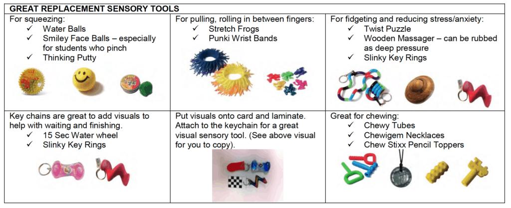 Replacement Sensory Ideas